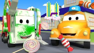 Download Tom the Tow Truck's Car Wash and Gary The Garbage Truck | Truck cartoons for kids Video