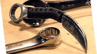 Download How to Make: RAZOR SHARP Knife From a Wrench (Karambit) Video