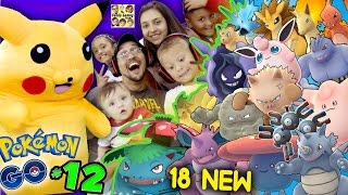 Download POKEMON GO! Got 18 New Creatures w/ Pikachu & FGTEEV Family (Part 12 Massive Evolving Gameplay) Video