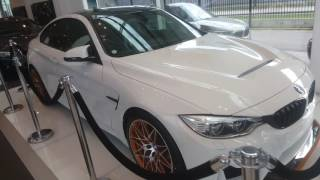 Download [4k] White BMW M4 GTS at Bilia Group Stockholm Video