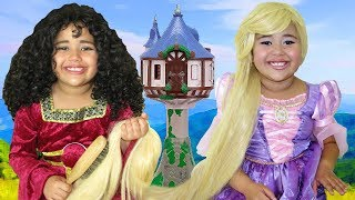 Download Disney Tangled Rapunzel and Mother Gothel Makeup Halloween Costumes and Toys Video