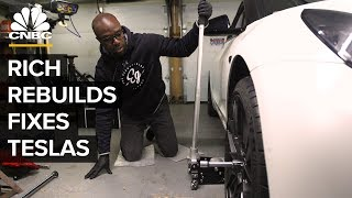 Download Why Rich Rebuilds Is Opening A Tesla Repair Shop Video