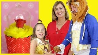 Download BEAUTY & THE BEAST BELLE CUPCAKES & GELLI BAFF POOL ! Disney Movie - Cute Kid bakes with Grandma Video