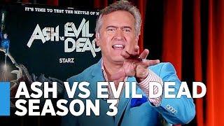 Download Bruce Campbell Shares ″Ash vs Evil Dead″ Season 3 Secrets & Beyond Video