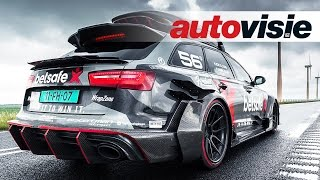 Download 1000HP Audi RS6 DTM (ex-Jon Olsson) activates scooter alarms in Amsterdam - by Autovisie TV Video