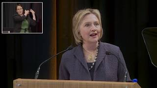 Download Public lecture by former US Secretary of State, Hillary Rodham Clinton at Trinity College Dublin Video