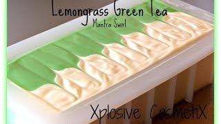 Download Mantra Swirl - Lemongrass Green Tea Making Cold Process Soap Video