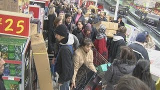 Download Shoppers go wild as Black Friday hits the UK Video