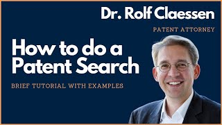 Download How to do a Patent Search? Brief Patent Search Tutorial - #rolfclaessen Video