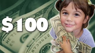 Download We Gave Kids One Hour To Spend $100 Video