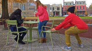 Download Chair Pulling Prank on Girls Video