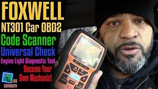 Download Foxwell NT301OBDII Diagnostic Scan Tool 🚘 : LGTV Review Video