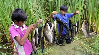 Download AMAZING Children Fishing Make Fish Trap With Multiple Knots - Khmer Fishing Tool (Knots L)Ronong Sar Video
