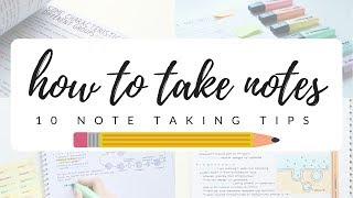 Download How to take efficient and neat notes - 10 note taking tips | studytee Video