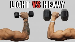 Download Light Weights vs Heavy Weights for Muscle Growth Video