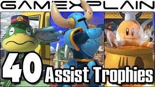 Download Super Smash Bros. Ultimate - All 40 New & Returning Assist Trophies We've Seen So Far (+Origins!) Video