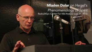Download Mladen Dolar on Hegel's Phenomenology of Spirit Video