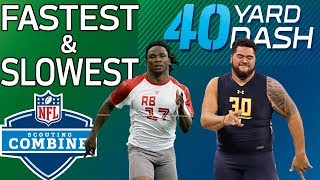 Download Top 5 Fastest & Slowest 40-Yard Dash Times Since 2008 | NFL Combine Highlights Video
