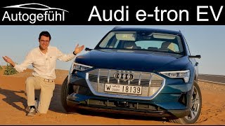 Download Audi e-tron FULL REVIEW etron EV road driving range vs offroad vs recuperation comparison Video
