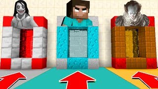 Download Minecraft PE : DO NOT CHOOSE THE WRONG SECRET BASE! (Jeff The Killer, Herobrine & Pennywise) Video