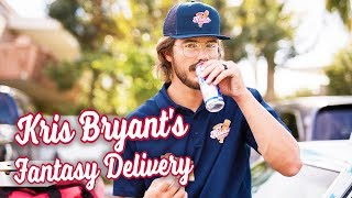 Download Kris Bryant pulls pizza delivery prank on Fantasy Baseball Leagues. Video