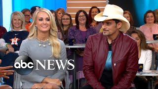 Download Brad Paisley and Carrie Underwood open up about the 2017 CMA Awards Video