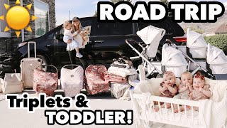 Download The triplets very first, LONG, EPIC road trip! | Traveling with 4 kids 2 and under Video