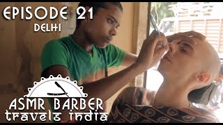 Download Young Indian Street Barber - Shave and Head Massage - ASMR intentional Video