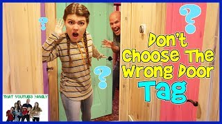 Download Family Fun DON'T CHOOSE THE WRONG DOOR Tag Game / That YouTub3 Family Video