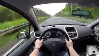 Download Peugeot 207 SW 1.4 (2009) on German Autobahn - POV Top Speed Drive Video