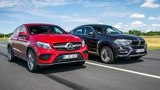 Download 2017 BMW X6 VS 2017 Mercedes-Benz GLE coupe Video
