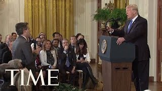 Download FULL Exchange Of President Trump's Clash With CNN's Jim Acosta | TIME Video