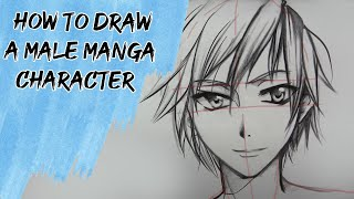 Download How to draw a male Manga character - Slow Tutorial Video