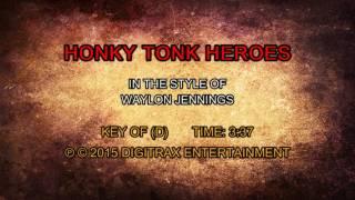 Download Waylon Jennings - Honky Tonk Heroes (Backing Track) Video