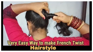 Download Very Easy Way to make French Roll/French Twist/French Bun Hairstyles for Short,medium and Long Hair Video