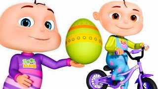 Download Five Little Babies Opening Surprise Eggs | Transport Vehicles For Children | Zool Babies Fun Songs Video
