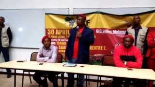 Download Malema Public lecture at Rhodes University Video