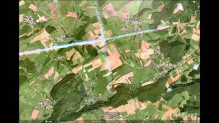 Download Google Maps: vapor trail over northern Luxembourg Video