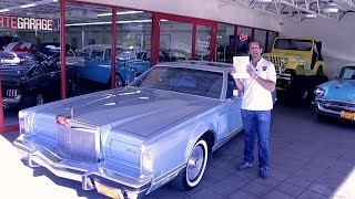 Download 1979 Lincoln Continental Mark V Cartier Edition for sale with test drive, driving sounds Video