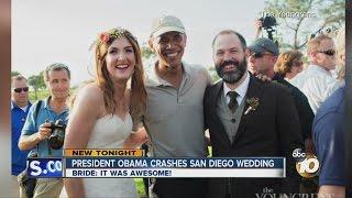 Download President Obama crashes San Diego wedding Video