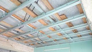 Download гипсокартонный потолок 18. Монтаж в воздухе. Gypsum ceiling. Video