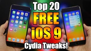 Download Top 20 FREE iOS 9 Cydia Tweaks! Video