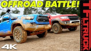 Download Toyota Tacoma TRD Pro vs Chevy Colorado ZR2 Bison: One Struggles and One Makes It In Texas Mud Video