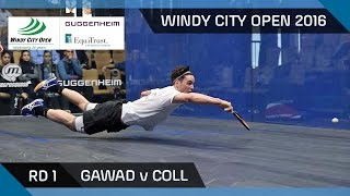 Download Squash: Gawad v Coll - Windy City Open 2016 - Men's Rd 1 Highlights Video