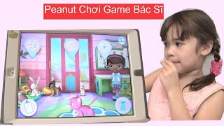 Download Bé Peanut Chơi Game Bác Sĩ - Game Khủng Long [kênh bé Peanut & Bé Mango]- Game Vui Video