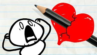 Download Will Pencilmate Ever Find True Love? -in- Pencilmation VALENTINE'S DAY Compilation for Kids Video