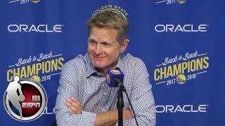 Download Warriors coach Steve Kerr admits Golden State isn't in shape despite win | NBA Sound Video