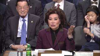 Download Senator Hassan Questions Secretary of Transportation Nominee Elaine Chao Video
