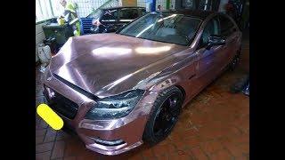 Download MB CLS500. Body repair. Ремонт кузова. Video