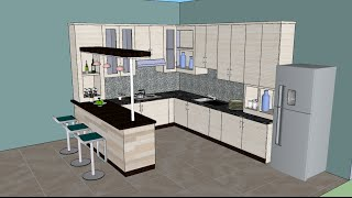 Download Sketchup tutorial interior design ( Kitchen ) Video